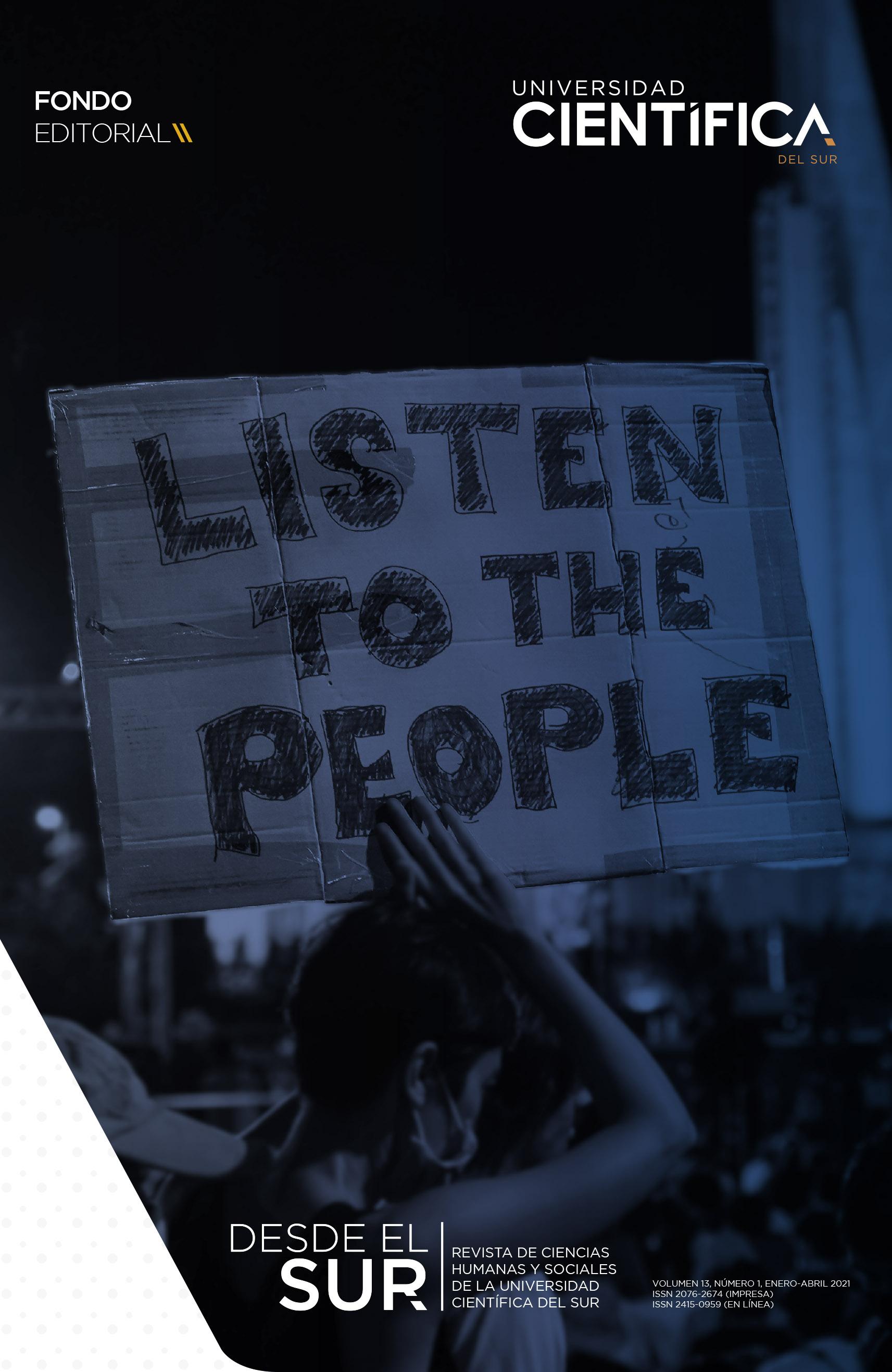 """Mujer en una protesta con un cartel que lleva alcazado en sus manos. En el cartel se lee: """"escuchen a las personas"""""""